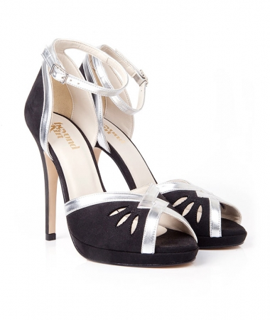 Patti - Black & Silver High Sandal