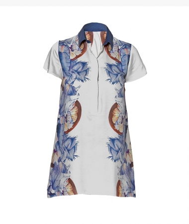 Blue Flowers Shirt-Dress